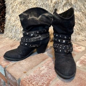 Report Western Grunge Studded Ankle Boots